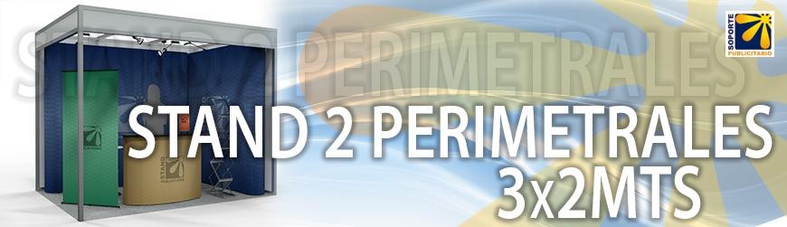 STAND 2 PERIMETRALES 3X2MTS