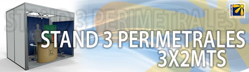 STAND 3 PERIMETRALES 3X2MTS