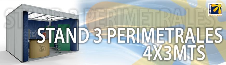 STAND 3 PERIMETRALES 4X3MTS