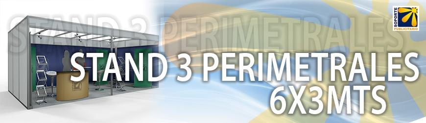 STAND 3 PERIMETRALES 6X3MTS