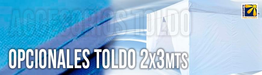 OPCIONALES PARA TOLDO 2X3 MTS