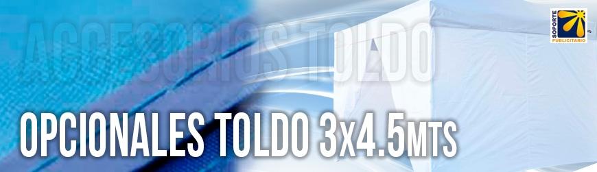OPCIONALES PARA TOLDO 3X4.5 MTS