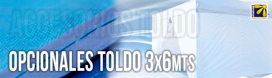 OPCIONALES PARA TOLDO 3X6 MTS
