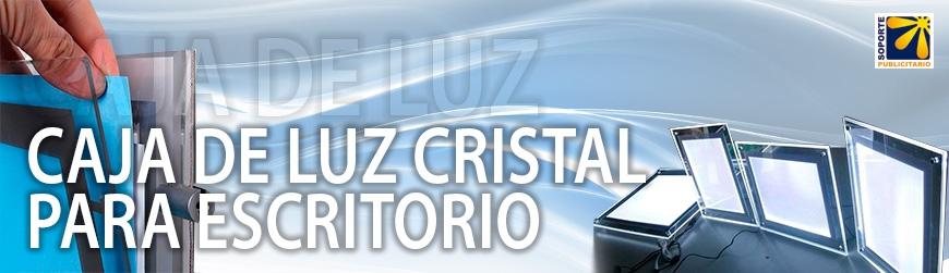 CAJA DE LUZ CRISTAL PARA ESCRITORIO