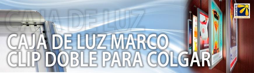 CAJA DE LUZ MARCO CLIP GRAFICA DOBLE PARA COLGAR