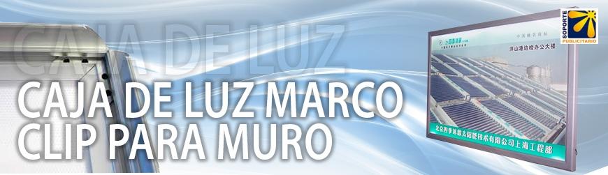 CAJA DE LUZ MARCO CLIP PARA MURO