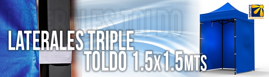 OPCIONALES LATERAL TRIPLE 1.5X1.5 MTS