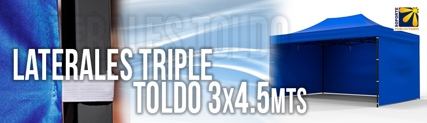 OPCIONALES LATERAL TRIPLE 3X4.5 MTS