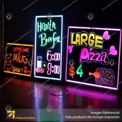 CAJA DE LUZ PIZARRA LED 30*40 CMS