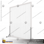 BIOMBO SEPARADOR AMBIENTES PA 6 MM CON MARCO PVC 210*200 CMS TRANSPARENTE CON TOPES REGULABLES