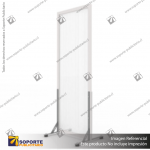 BIOMBO SEPARADOR AMBIENTES PA 6 MM CON MARCO PVC 70*200 CMS COLOR OPAL CON TOPES REGULABLES