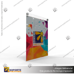 PORTA GRAFICA ACRILICO A4 (21*29.7 CMS) FORMATO MURO VERTICAL 2.0 MM + SET EMBELLECEDORES