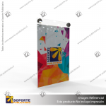 PORTA GRAFICA ACRILICO A5 (14.8*21 CMS) FORMATO MURO VERTICAL 1.5 MM + SET EMBELLECEDORES