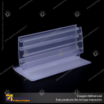 PORTA STOPPER FLEXIBLE CON ADHESIVO 75*38*38 MM ESPESOR GRAFICA 3-5 MM