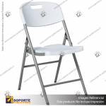 SILLA PUBLICITARIA PLEGABLE COLOR BLANCO 46*83*57 CMS